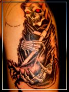 Photos tatouages pictures tattoos 179 Mania tattoo.com tattoo faucheuse grim reaper