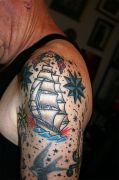 Photos tatouages pictures tattoos 14 Mania tattoo.com Tattoo bateau boat