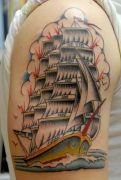 Photos tatouages pictures tattoos 21 Mania tattoo.com Tattoo bateau boat