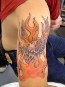 Photos tatouages pictures tattoos 11 Mania tattoo.com Tattoo flamme flame