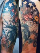 Photos tatouages pictures tattoos 85 Mania tattoo.com Tattoo patriotique patriotic