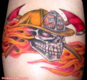 Photos tatouages pictures tattoos 102 Mania tattoo.com Tattoo pompier fire firefighters