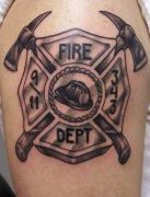 Photos tatouages pictures tattoos 168 Mania tattoo.com Tattoo pompier fire firefighters