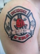 Photos tatouages pictures tattoos 227 Mania tattoo.com Tattoo pompier fire firefighters
