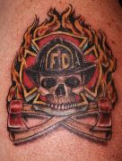 Photos tatouages pictures tattoos 200 Mania tattoo.com Tattoo pompier fire firefighters