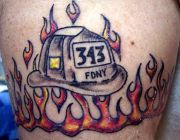 Photos tatouages pictures tattoos 28 Mania tattoo.com Tattoo pompier fire firefighters